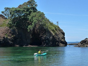 Idyllic kayaking