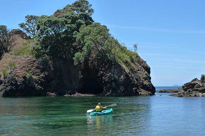 Kayak peaceful bays
